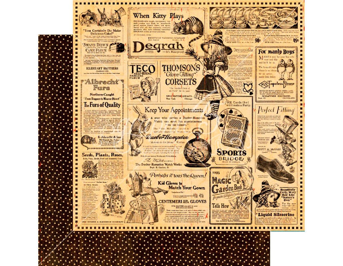 4501381 Papel dobel cara HALLOWE EN IN WONDERLAND Wonderland Classifieds Graphic45