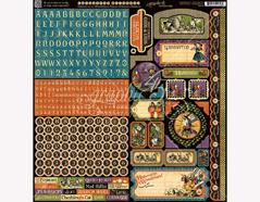 4501391 Pegatinas formas y disenos surtidos HALLOWE EN IN WONDERLAND Graphic45