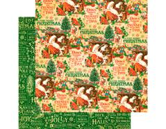 4501399 Papel doble cara ST NICHOLAS Santa s Workshop Graphic45
