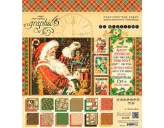4501410 Set 24 papeles surtidos ST NICHOLAS Graphic45
