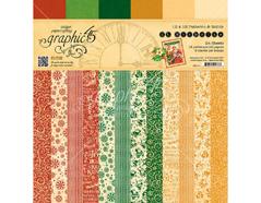 4501411 Set 24 papeles surtidos estampados base ST NICHOLAS Graphic45