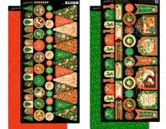 4501414 Set 2 hojas de papel doble cara con banderas pre-cortadas ST NICHOLAS Graphic45