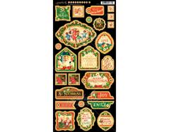 4501415 Carton con formas decorativas pre-cortadas ST NICHOLAS Graphic45
