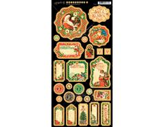 4501416 Carton con formas etiquetas diario pre-cortadas ST NICHOLAS Graphic45