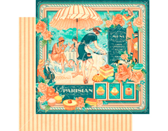 4501422 Papel doble cara CAFE PARISIAN Cafe Parisian Graphic45 - Ítem