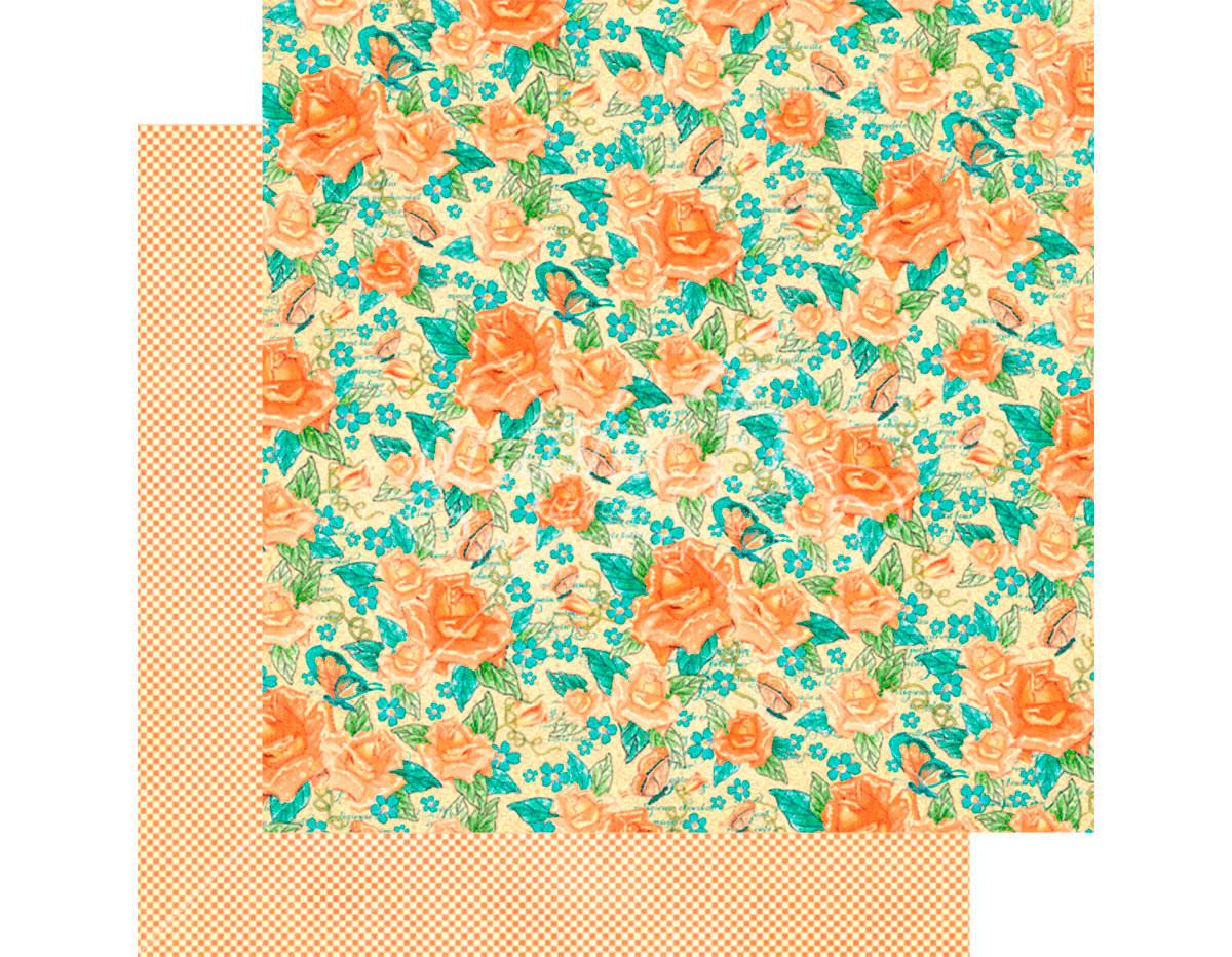 4501423 Papel doble cara CAFE PARISIAN Floral Souffle Graphic45