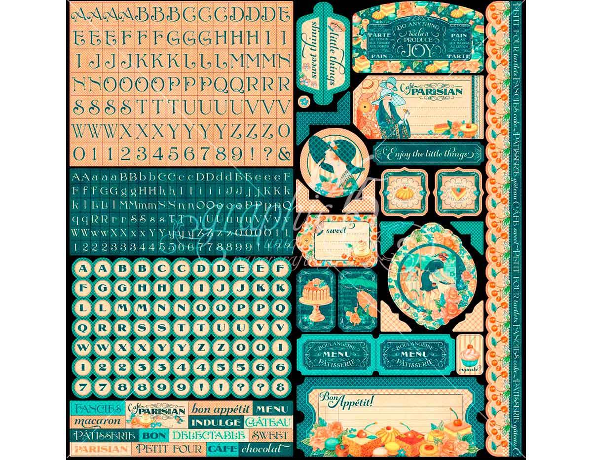4501441 Pegatinas formas y disenos surtidos CAFE PARISIAN Graphic45