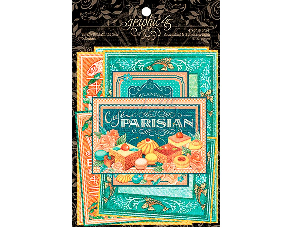 4501442 Tarjetas de papel en disenos surtidos CAFE PARISIAN Graphic45