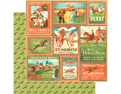 4501448 Papel doble cara OFF TO THE RACES Belmont Stakes Graphic45
