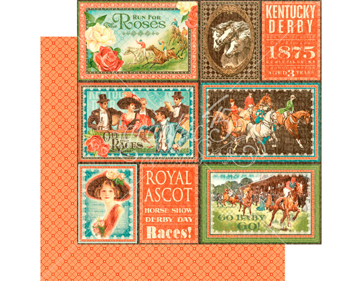 4501451 Papel doble cara OFF TO THE RACES Royal Ascot Graphic45