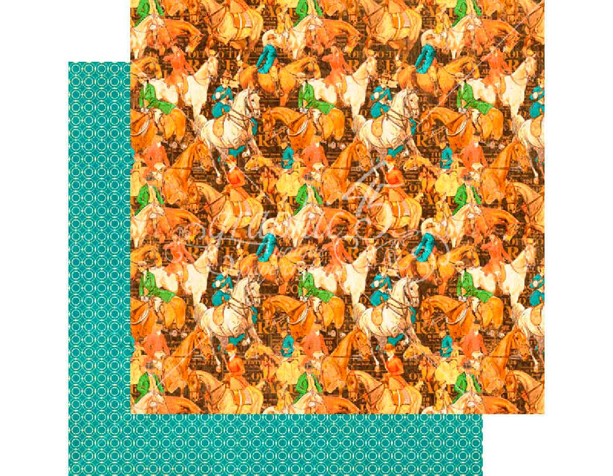 4501453 Papel doble cara OFF TO THE RACES Hot to Trot Graphic45