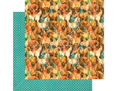 4501453 Papel doble cara OFF TO THE RACES Hot to Trot Graphic45 - Ítem