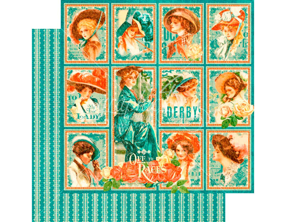 4501454 Papel doble cara OFF TO THE RACES My Fair Lady Graphic45