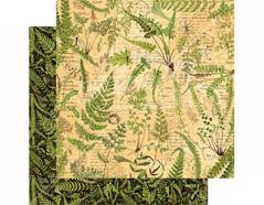 4501479 Papel doble cara NATURE SKETCHBOOK Verdant Woodlands Graphic45