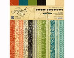 4501486 Set 24 papeles surtidos estampados base NATURE SKETCHBOOK Graphic45