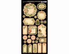 4501514 Carton con formas etiquetas diario pre-cortadas PORTRAIT OF A LADY Graphic45