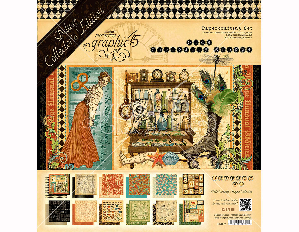4501517 Set completo DELUXE COLLECTION EDITION Olde Curiosity Shoppe Graphic45