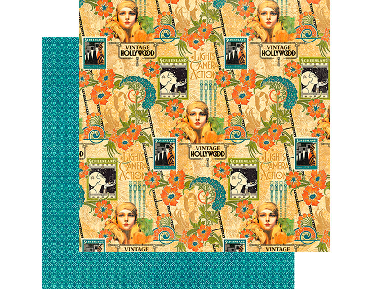 4501529 Papel doble cara VINTAGE HOLLYWOOD Dazzling Diva Graphic45