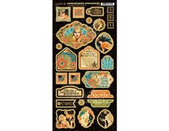 4501536 Carton con formas decorativas pre-cortadas VINTAGE HOLLYWOOD Graphic45