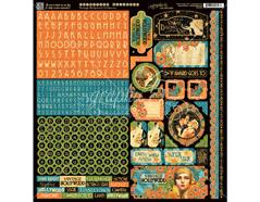 4501538 Pegatinas formas y disenos surtidos VINTAGE HOLLYWOOD Graphic45