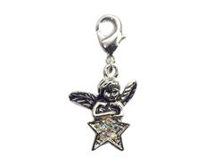 50117 Z50117 Colgante metalico NICE CHARMS angel con estrella con mosqueton Innspiro
