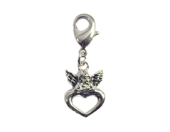 Z50119 50119 Colgante metalico NICE CHARMS angel con corazon con mosqueton Innspiro