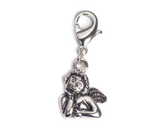 Z50122 50122 Colgante metalico NICE CHARMS angel pensando con mosqueton Innspiro