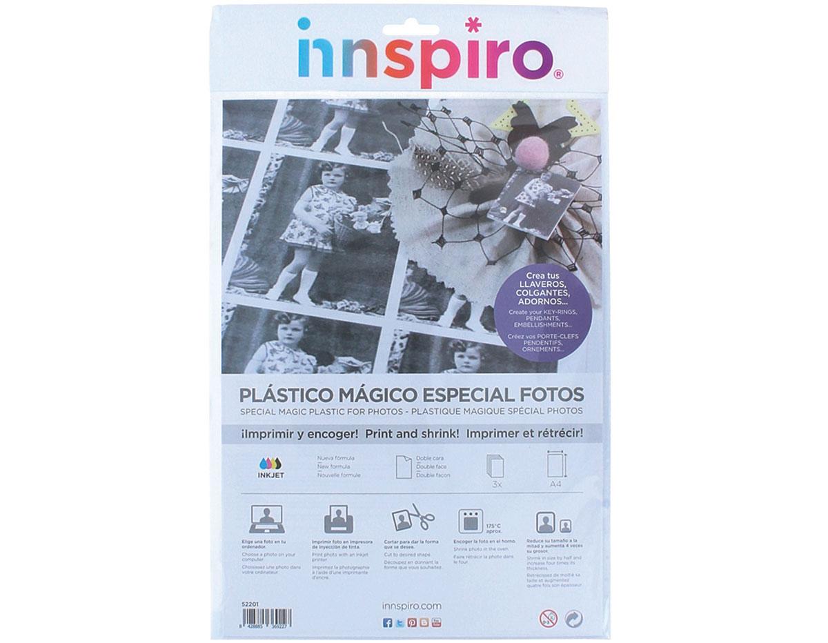52201 Hojas especial fotos plastico magico INKJET Innspiro