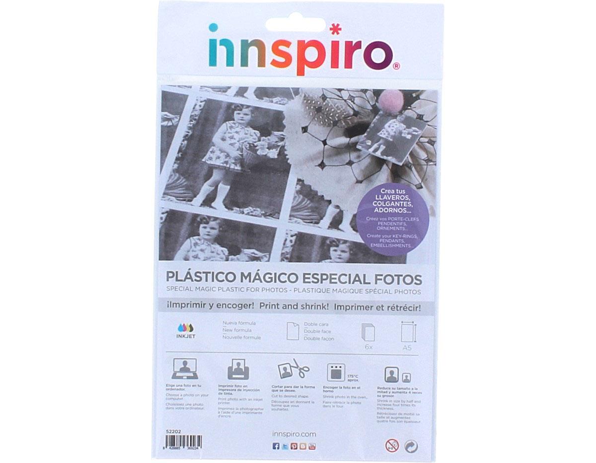52202 Hojas especial fotos plastico magico INKJET Innspiro