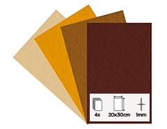 55163 Set 4 laminas fieltro acrilico otono 20x30cm 1mm Felthu