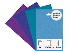 55462 Set 4 laminas fieltro acrilico frios adhesivas 20x30cm 2mm Felthu