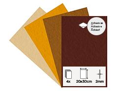 55463 Set 4 laminas fieltro acrilico otono adhesivas 20x30cm 2mm Felthu