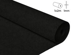 57102 Fieltro acrilico negro 100x200cm 1mm 1u Innspiro