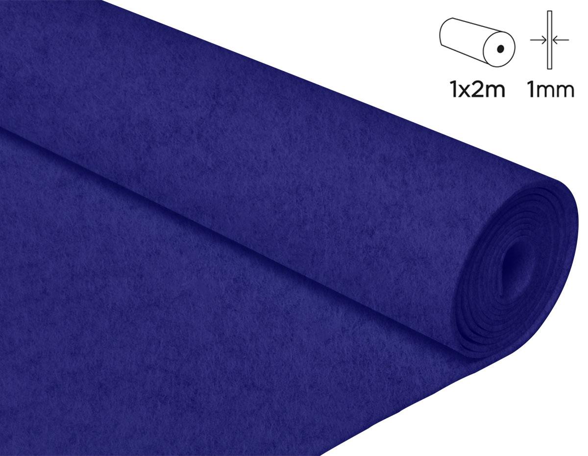 57111 Fieltro acrilico azul fuerte 100x200cm 1mm 1u Innspiro