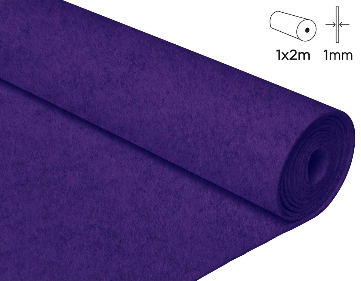 57112 Fieltro acrilico lila fuerte 100x200cm 1mm 1u Felthu