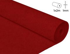 57117 Fieltro acrilico rojo 100x200cm 1mm 1u Felthu