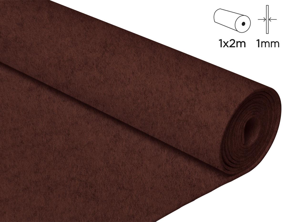 57128 Fieltro acrilico chocolate 100x200cm 1mm 1u Innspiro
