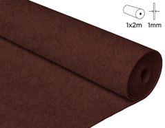 57128 Fieltro acrilico chocolate 100x200cm 1mm 1u Felthu