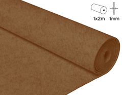 57129 Fieltro acrilico marron 100x200cm 1mm 1u Felthu