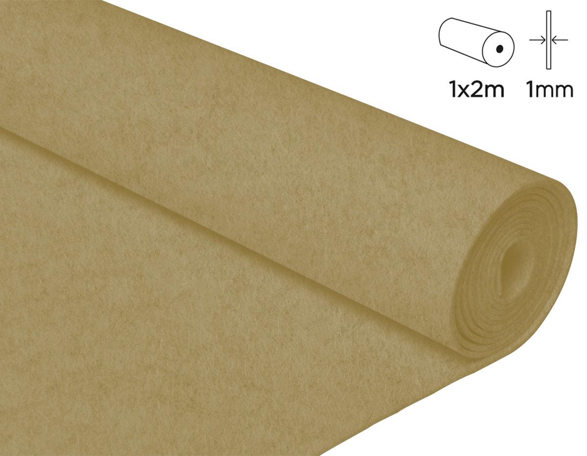 57136 Fieltro acrilico beige 100x200cm 1mm 1u Felthu
