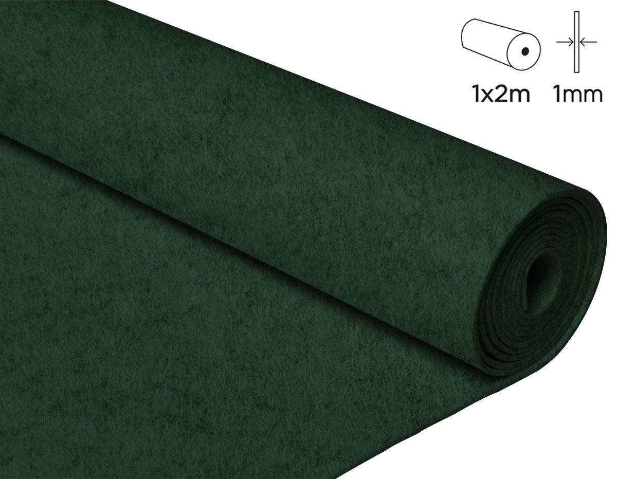 57139 Fieltro acrilico verde militar 100x200cm 1mm 1u Felthu