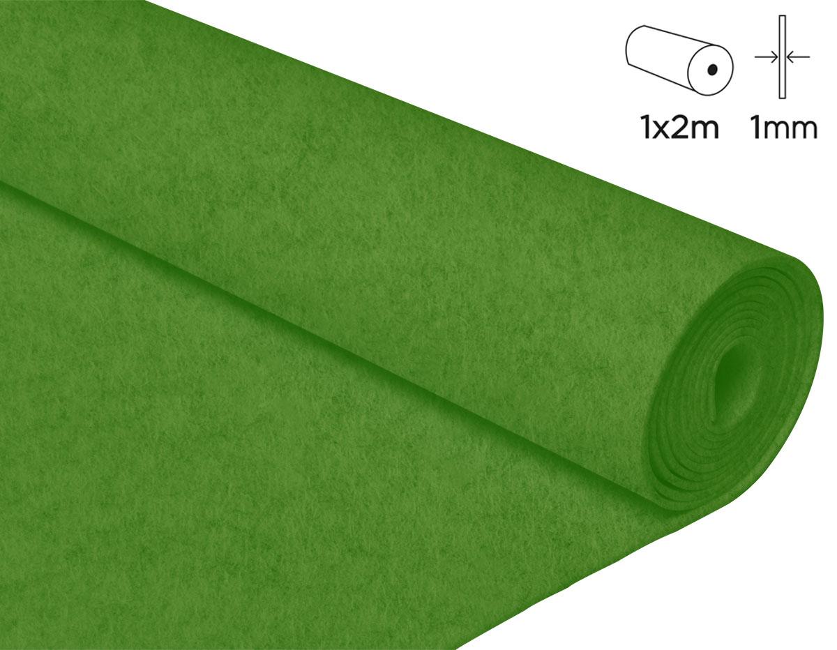 57143 Fieltro acrilico verde citrico 100x200cm 1mm 1u Innspiro