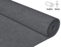 57151 Fieltro acrilico gris 100x200cm 1mm 1u Innspiro
