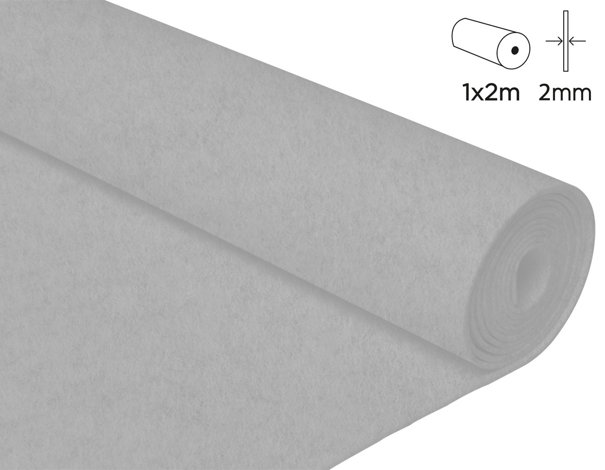 57200 Fieltro acrilico blanco 100x200cm 2mm 1u Felthu