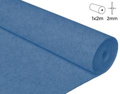 57206 Fieltro acrilico azul nautico 100x200cm 2mm 1u Felthu