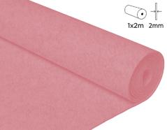 57216 Fieltro acrilico rosa claro 100x200cm 2mm 1u Felthu