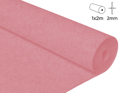 57216 Fieltro acrilico rosa claro 100x200cm 2mm 1u Innspiro