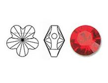 5744-227-8 Cuentas cristal Flower 5744 light siam Swarovski Autorized Retailer