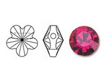 5744-502-8 Cuentas cristal Flower 5744 fuchsia Swarovski Autorized Retailer