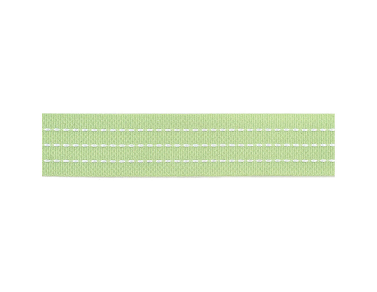 58337 Cinta cordellate Ribbon Printed Grosgrain Stitches Mint American Crafts